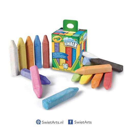Crayola Afwasbaar Stoepkrijt 16 stuks