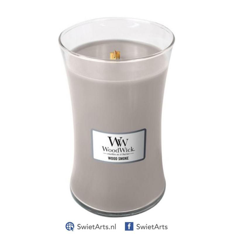 WoodWick Large Candle Wood Smoke