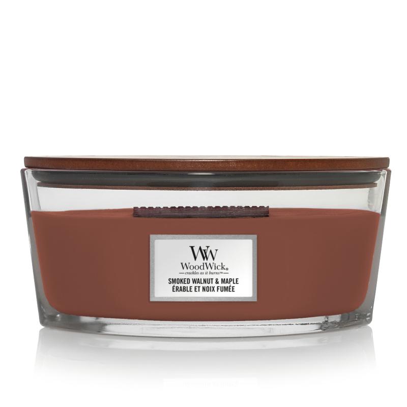 WoodWick Ellipse Candle Smoked Walnut & Maple