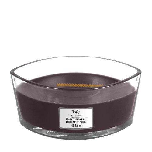 WoodWick Black Plum Cognac Ellipse Candle
