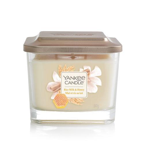 Yankee Candle Elevation Medium Jar Rice Milk & Honey