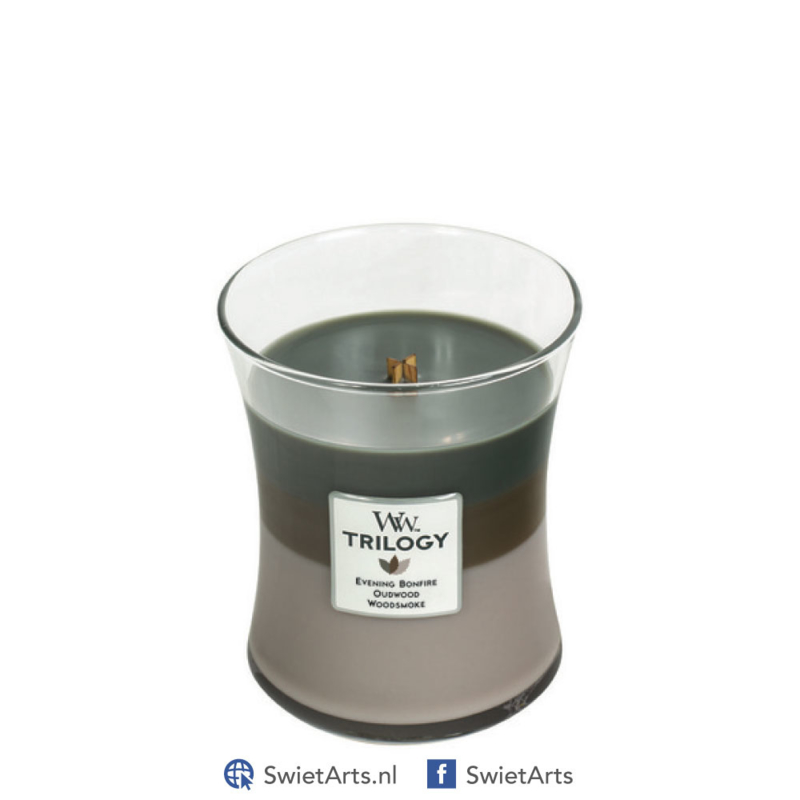 WoodWick Medium Candle Cozy Cabin Trilogy