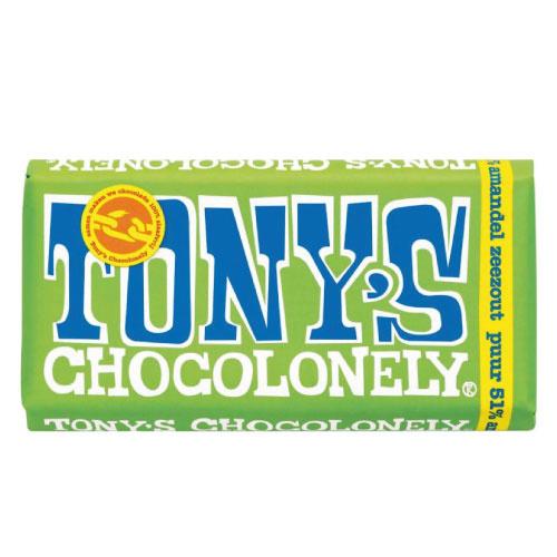 Tony's Chocolonely Puur Amandel Zeezout (180 gram)