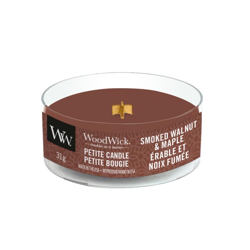 WoodWick Petite Candle Smoked Walnut & Maple