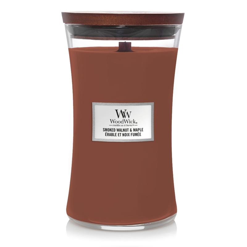 WoodWick Large Candle Smoked Walnut & Maple