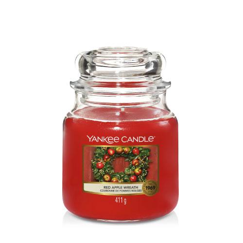 Yankee Candle Medium Jar Red Apple Wreath