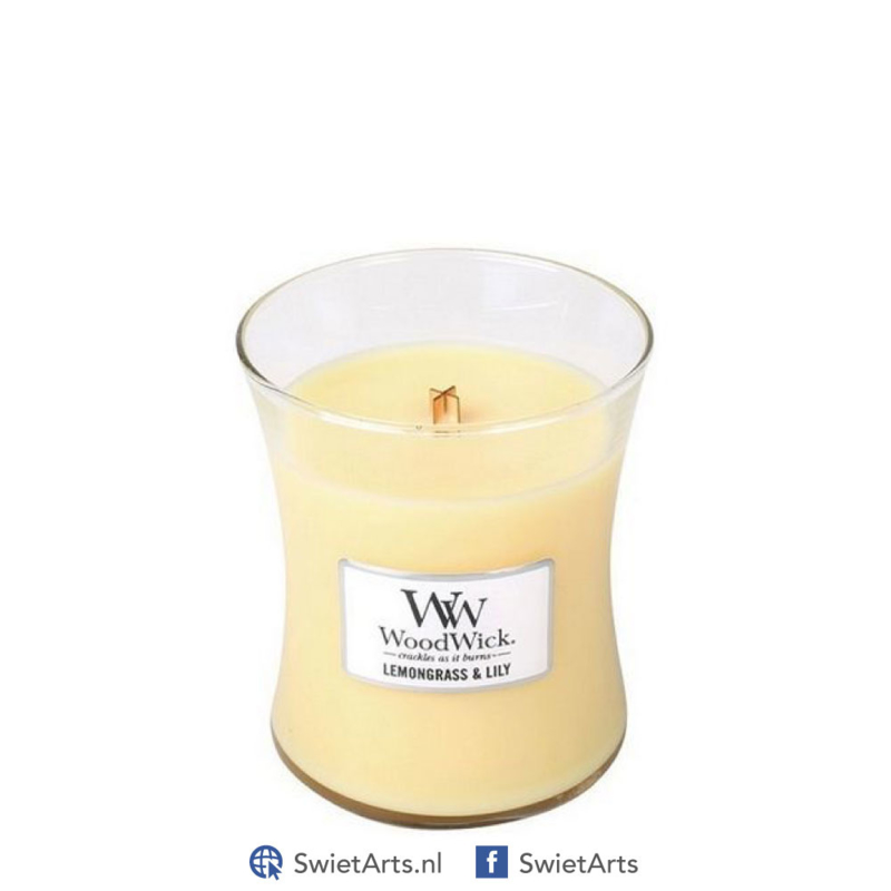 WoodWick Medium Candle Lemongrass & Lily