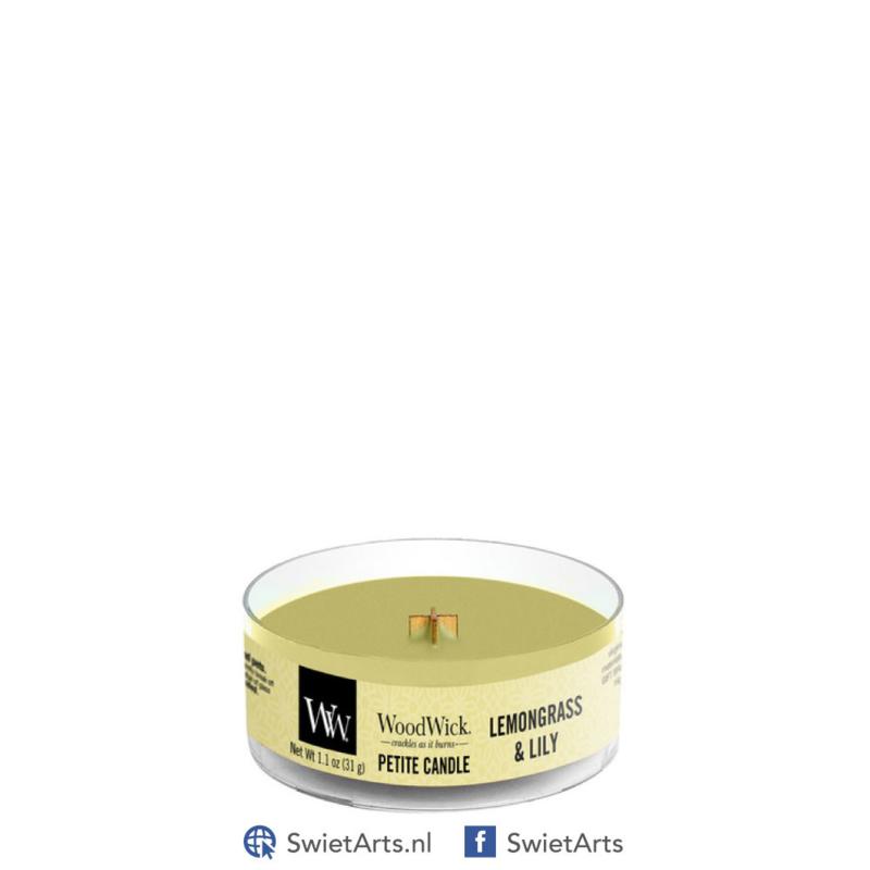WoodWick Lemongrass & Lily Petite Candle