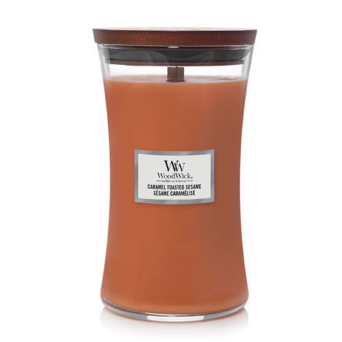 WoodWick Large Candle Caramel Toasted Sesame