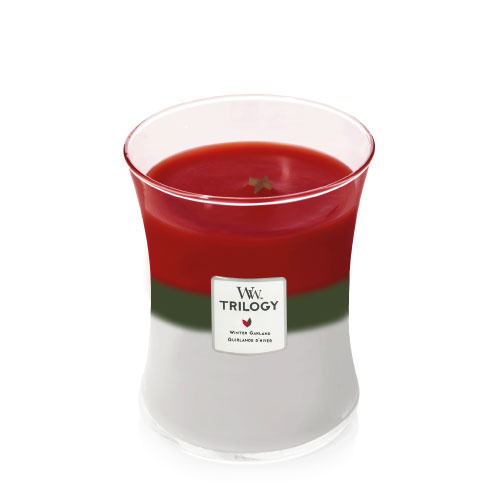 WoodWick Medium Candle Winter Garland Trilogy