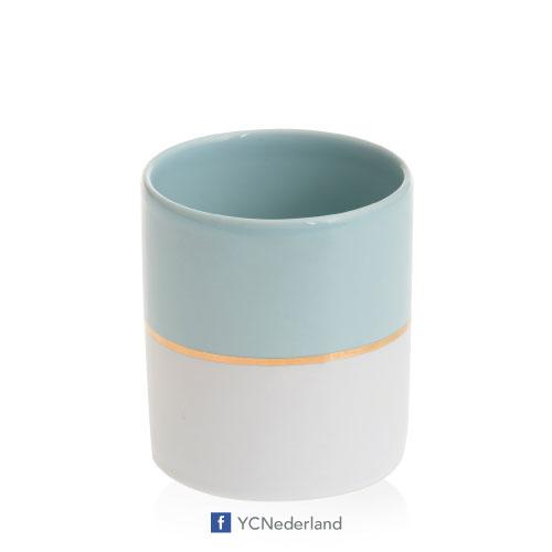 Yankee Candle Votive Holder Bucket Simply Pastel Blue
