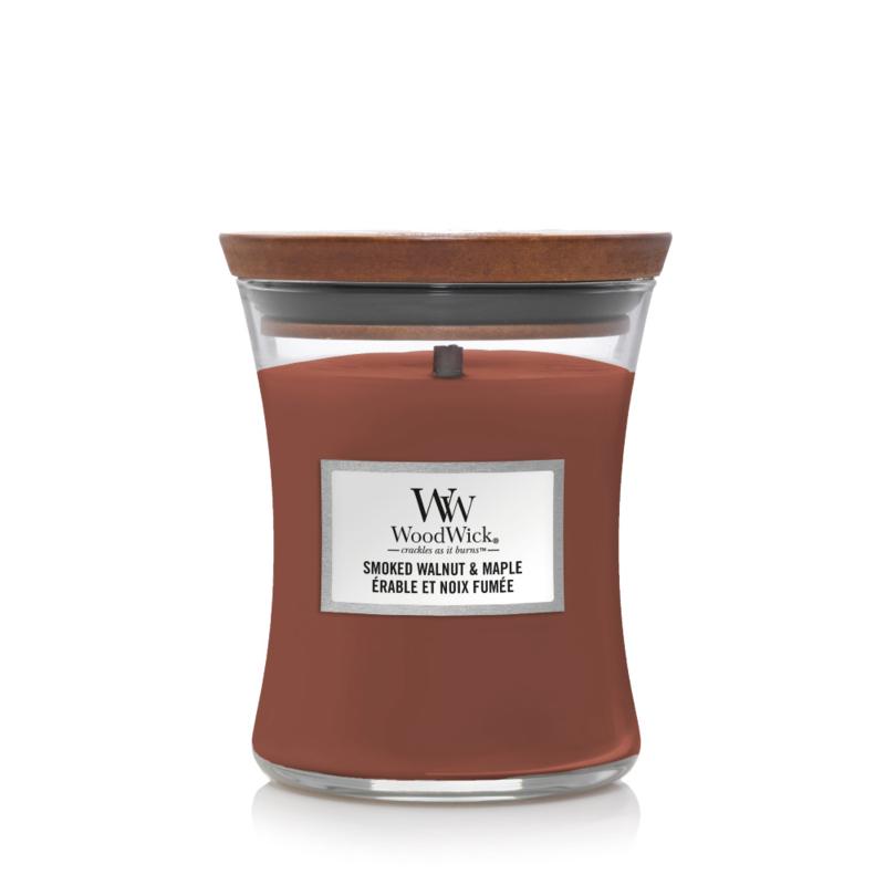 WoodWick Medium Candle Smoked Walnut & Maple