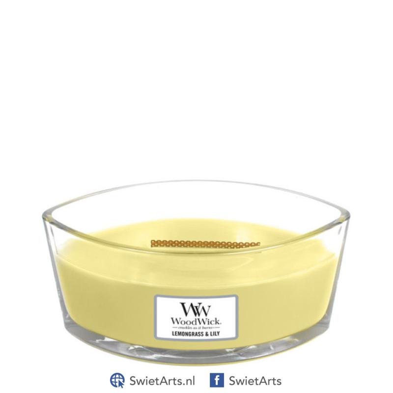WoodWick Lemongrass & Lily Ellipse Candle