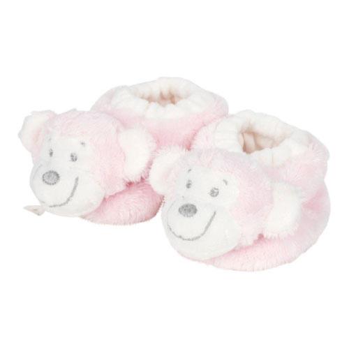 VIB Pluche Babyslofjes Aap (Roze)