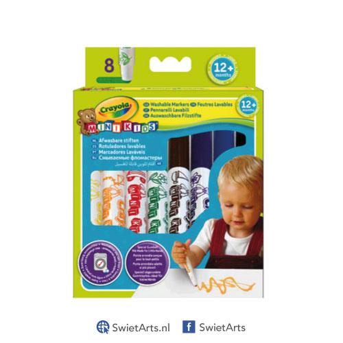 Crayola Mini Kids Viltstiften met Bolle Punt 8 stuks
