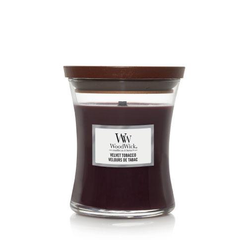 WoodWick Medium Candle Velvet Tobacco