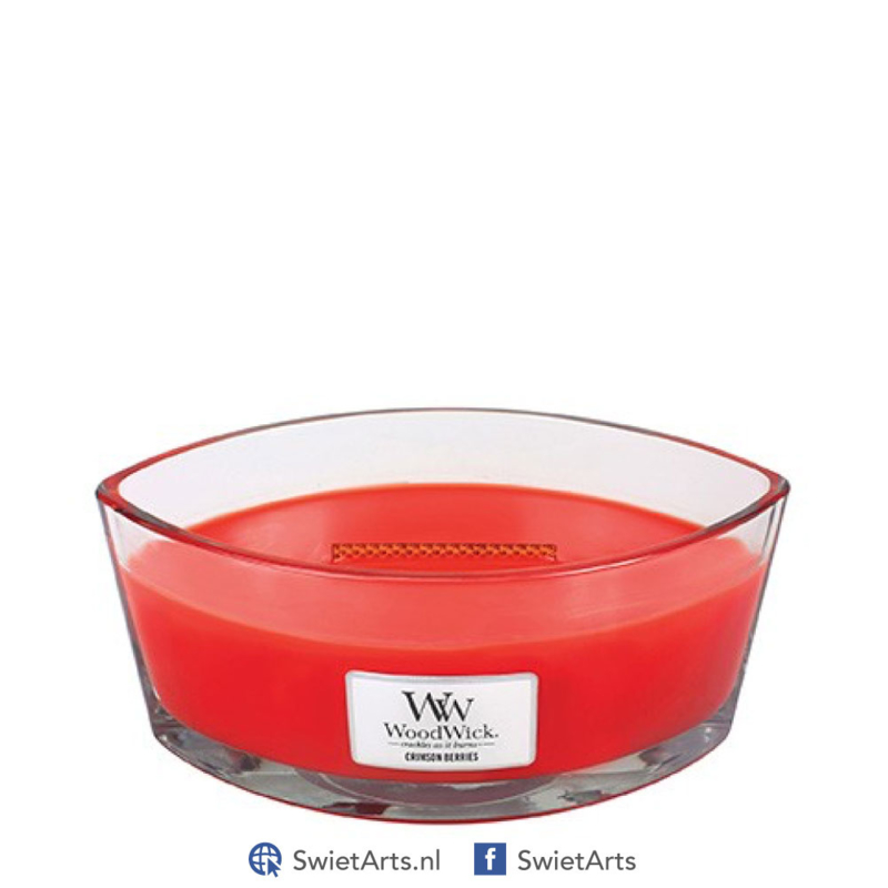 WoodWick Crimson Berries Ellipse Candle
