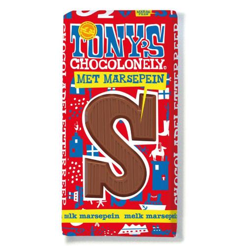 Tony's Chocolonely 180 Gram Melk Marsepein S