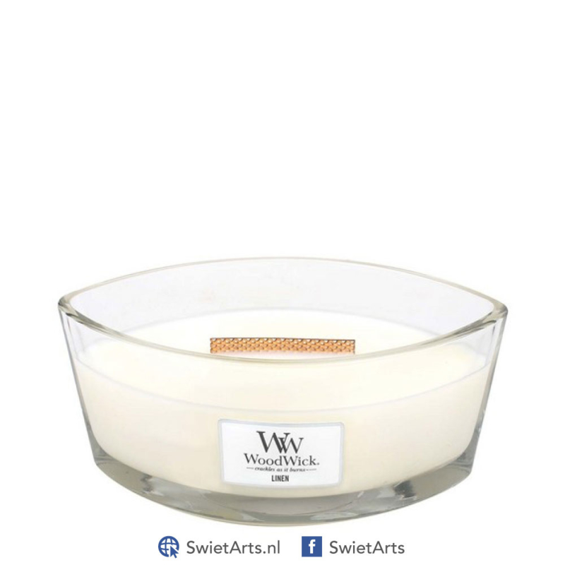 WoodWick Linen Ellipse Candle