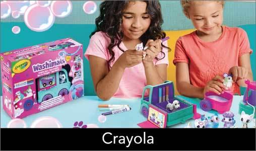 Crayola wil bijdragen aan de ontwikkeling van kinderen door creatieve producten aan te bieden van hoge kwaliteit, aangepast aan elke leeftijd, gemakkelijk en veilig, functioneel en wasbaar. Zo zijn er de beroemde waskrijtjes, de Marker Airbrush en Doodle Magic. <br> <br>Het bedrijf begon toen de neven Edwin Binney en C. Harold Smith in 1885 Crayola overnamen van Edwins vader. Toen ze zagen dat er behoefte was aan veilig waskrijt van goede kwaliteit en ook nog eens betaalbaar, rolde in 1903 het eerste doosjes met 8 Crayola waskrijtjes van de lopende band. <br> <br>Sindsdien ontwikkelt Crayola elk jaar weer nieuwe producten binnen het knutselen en creatief speelgoed voor kinderen. Zo heeft Crayola onder andere ook verf, stiften, kleurpotloden en stoepkrijt.