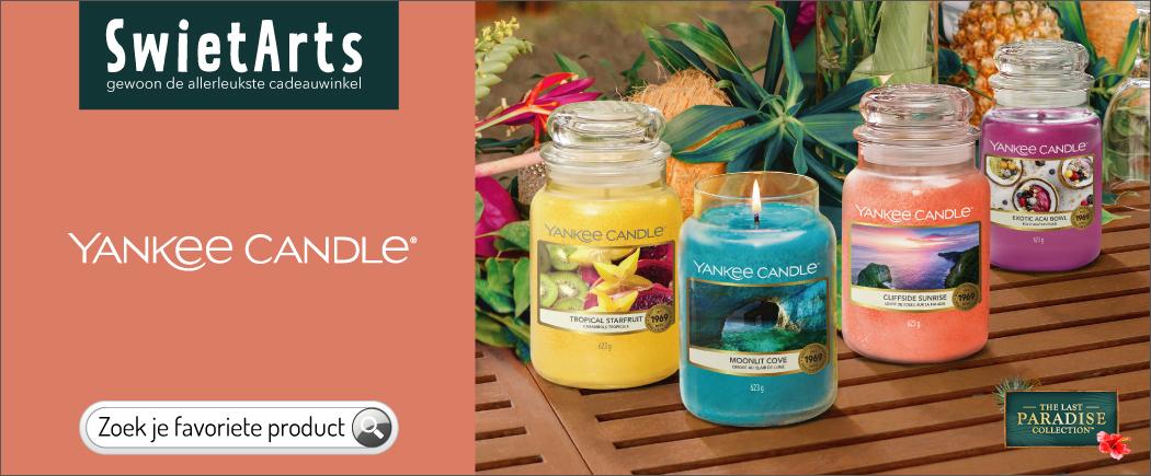 Het grootste assortiment Yankee Candle geurproducten vind je bij SwietArts. Vandaag besteld is morgen in huis!
