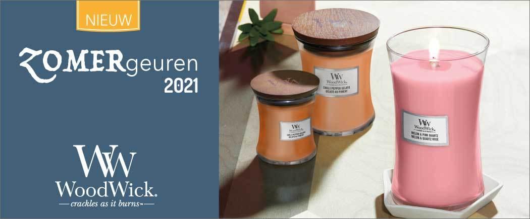 Dit zijn de WoodWick ZOMERgeuren van 2021 | WoodWick Chilli Pepper Gelato en WoodWick Melon & Pink Quartz