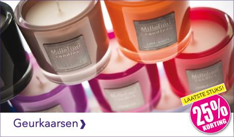 De geurkaarsen van Millefiori Milano hebben een mooi design en zijn verkrijgbaar in diverse heerlijke geuren. De geurkaarsen van Millefiori Milano koop je nu extra voordelig met 25% korting.