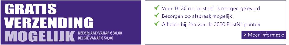 WoodWick bezorgen wij vanaf 30 Euro gratis bij je thuis of op je werk in Nederland. Voor Belgié vanaf 50 Euro.