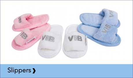 VIB VERY IMPORTANT BABY SLIPPERTJES IN ROZE, WIT OF BLAUW