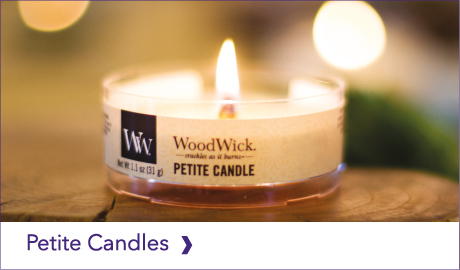 DISCOVER OUR WOODWICK PETITE CANDLES