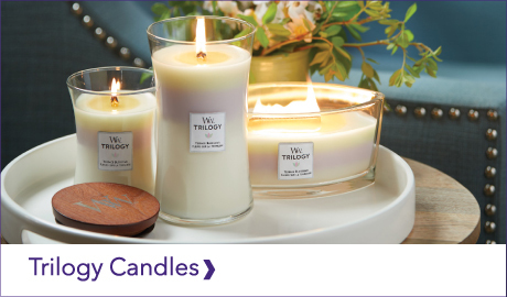 DISCOVER OUR WOODWICK TRILOGY CANDLES