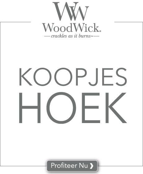 In onze WoodWick koopjes hoek profiteer je van WoodWick geurproducten met 25% korting. Zo maken we plaats voor nieuw assortiment!