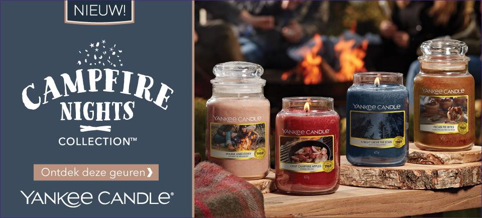 Ontdek de nieuwe Yankee Candle collectie Campfire Nights bij SwietArts!