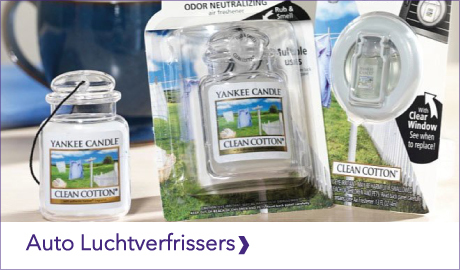 Ontdek de Yankee Candle luchtverfrissers voor in de auto. Zo heb je niet alleen thuis je favoriete geur maar ook voor onderweg of op vakantie!