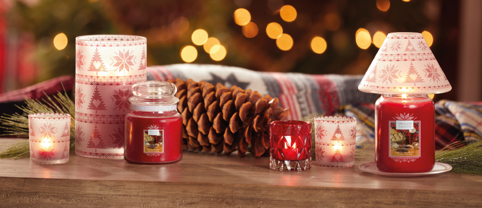 YANKEE CANDLE RED NORDIC FROSTED GLASS | CHRISTMAS ACCESSORIES COLLECTION 2019