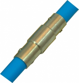 Professionele blauwe veegset 2,40m met staalborstel