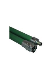 Flexibele veegstok met schroefdraad professioneel (groen)