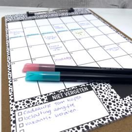 Kalender 2022 met A4 klembord