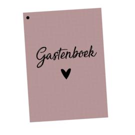 Gastenboek invulkaarten 50st. - OUDROZE