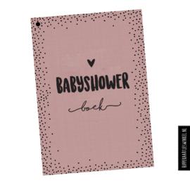 Babyshowerboek invulkaarten 50st. - roze