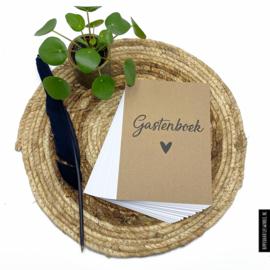 Gastenboek invulkaarten 50st. - Kraft
