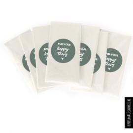 """For your happy tears' stickers + zakjes"