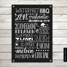 Tuinposter XL Zwart