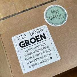 Recycle stickers 'Wij doen groen' 100 stuks wholesale