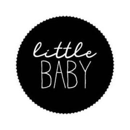 "Stickers ""little baby"" zwart rond - 20 stuks"