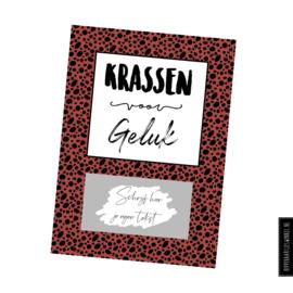 "Kraskaart DIY ""Krassen voor geluk"" Kleur"