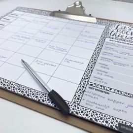 Familieplanner XXL op klembord + gratis navulling