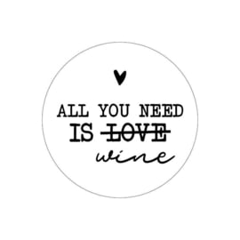 Stickers 'All you need is wine' 20 stuks