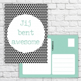 "Ansichtkaart ""Jij bent awesome"""