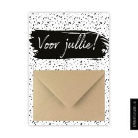 Geldkaart 'Voor jullie' zwart/wit